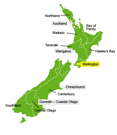 South Island Png City Map No Background